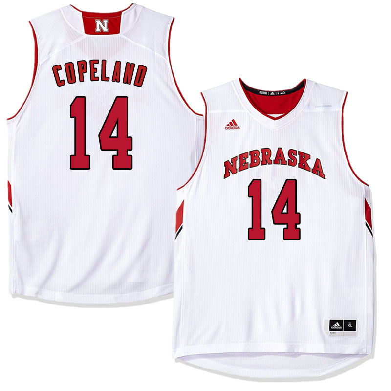 Men Nebraska Cornhuskers #14 Isaac Copeland College Basketball Jersyes Sale-White