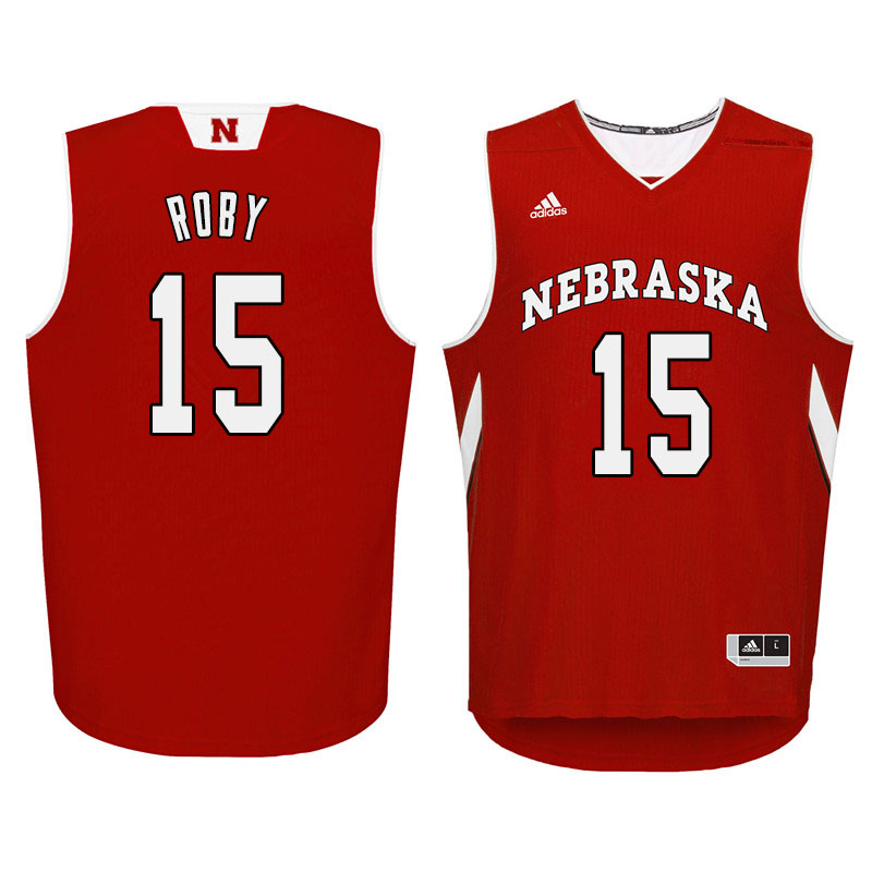 Men Nebraska Cornhuskers #15 Isaiah Roby College Basketball Jersyes Sale-Red