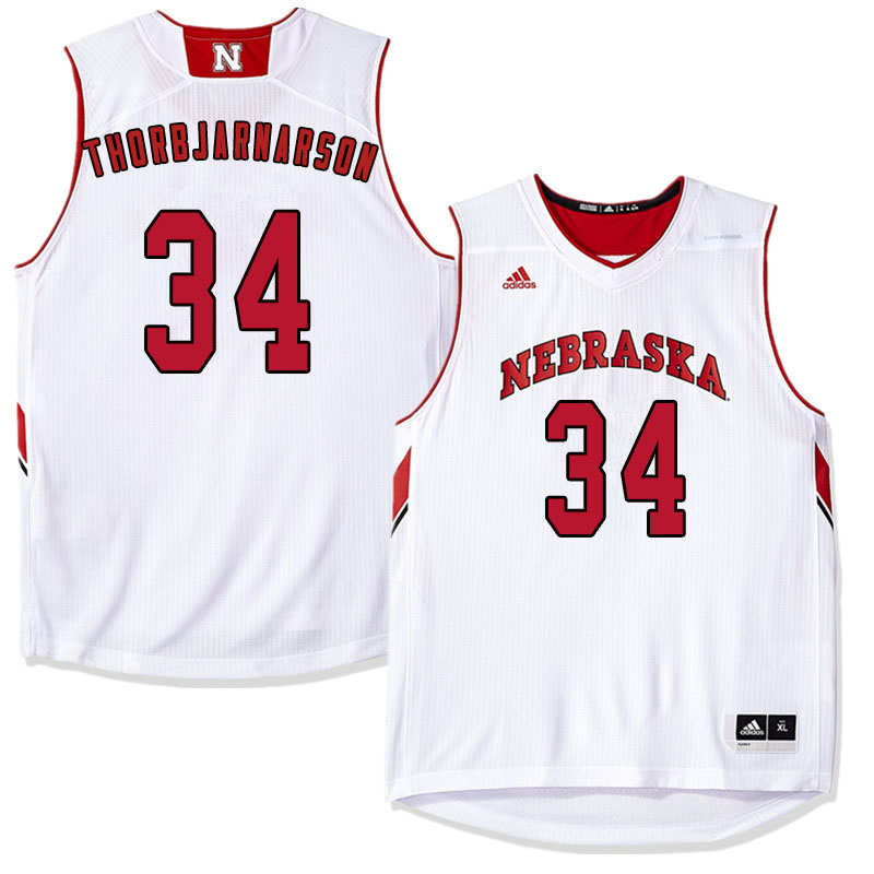 Men Nebraska Cornhuskers #34 Thorir Thorbjarnarson College Basketball Jersyes Sale-White